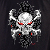 Aftermath Tattoo Skull T Shirt