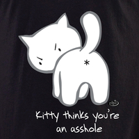 Evilkid Kitty Asshole Shirt