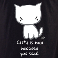 Evilkid Kitty You Suck Shirt