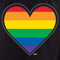Rainbow Heart T Shirt
