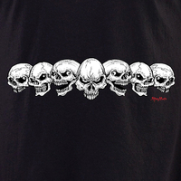 Aftermath 7 Skulls Shirt | Biker