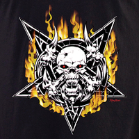 Aftermath Pentagram Skull T Shirt