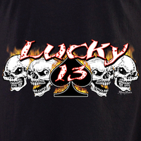 Aftermath Lucky 13 Skull Shirt