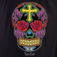 Sunny Buick Rose Cross Sugar Skull T-Shirt