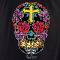 Sunny Buick Rose Cross Sugar Skull Shirt