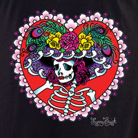 Sunny Buick Flower Hat Sugar Skull Shirt