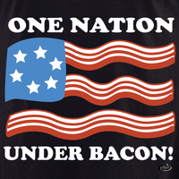 Evilkid One Nation Under Bacon T-Shirt
