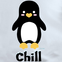 Chill Penguin White T shirt