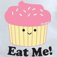Evilkid Eat Me Cupcake White T shirt