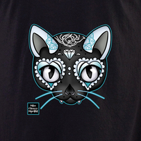 Miss Cherry Martini Blue Cat shirt