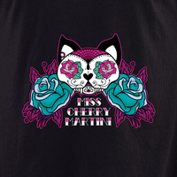 Miss Cherry Martini Sugar skull Cat tattoo shirt