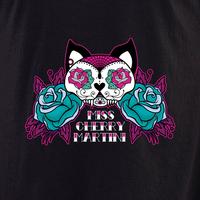 Miss Cherry Martini Sugar skull Cat tattoo shirt