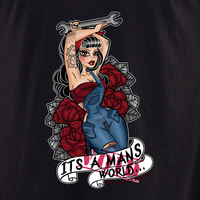 Miss Cherry Martini It's a Man's World (NOT) shirt