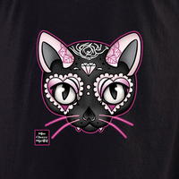 Miss Cherry Martini Pink Cat shirt
