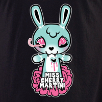 Miss Cherry Martini Zombie Bunny shirt