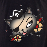 fluff pirate cat shirt