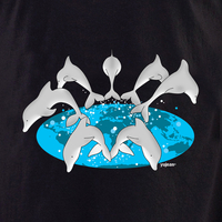 Yujean Dolphins Globe T shirt