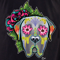 Cali Mastiff Grey with flowers Shirt