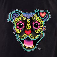 Cali Smiling Pit Bull Brindle Shirt