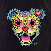 Cali Smiling Pit Bull Fawn Shirt