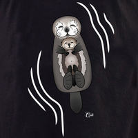Cali Otter Mom and Baby with waves Shirt