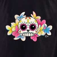 Cali Calavera con Flores Shirt