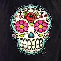 Cali Floral Sugar Skull Shirt
