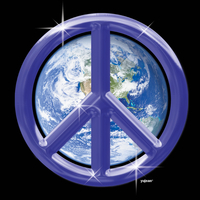 Purple Peace Earth T-shirt