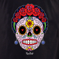 Day of the Dead Wallets, Button Boxes, Metal Signs, Tees and Totes!