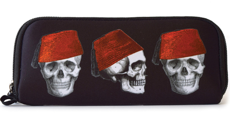 Cabinet of Curiosities Fez Skull Wallet | Wallets and Pouches