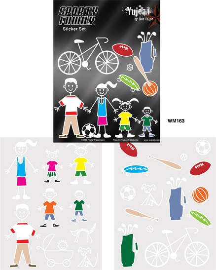 Sporty Stick Family Sticker Set | Stickers
